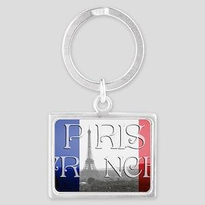 PARIS FRANCE EIFFEL TOWER Landscape Keychain