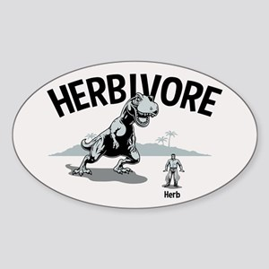 Herbivore II Sticker (Oval)