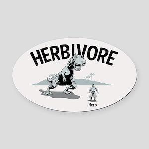 Herbivore II Oval Car Magnet