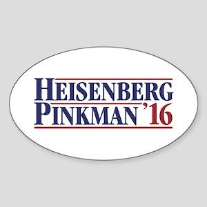 Heisenberg Pinkman '16 Sticker (Oval)