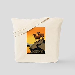 1930s Vintage Preserve Wildlife WPA Poster Tote Ba