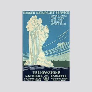 1930s Vintage Yellowstone National Park Rectangle