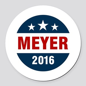 Meyer 2016 Round Car Magnet