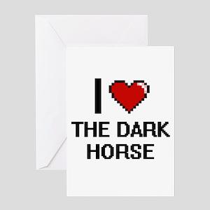 I love The Dark Horse digital desig Greeting Cards