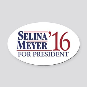 Selina Meyer For President Oval Car Magnet