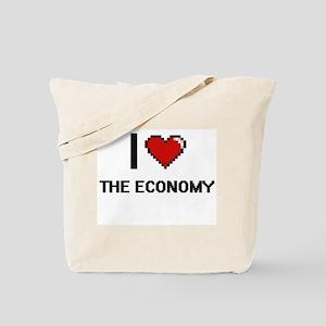 I love THE ECONOMY digital design Tote Bag