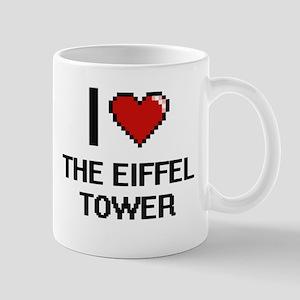 I love THE EIFFEL TOWER digital design Mugs