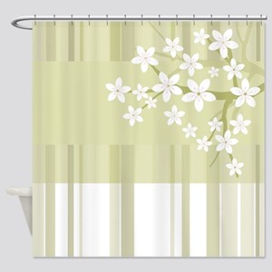Sakura Japanese Cherry Tree Floral Shower Curtain