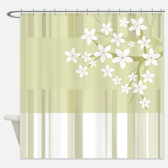 Sakura Japanese Cherry Tree Floral Shower Curtain