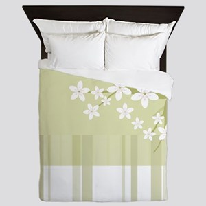 Sakura Japanese Cherry Tree Floral Pat Queen Duvet
