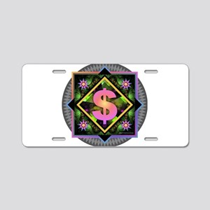 Money Dollar Sign $ Aluminum License Plate