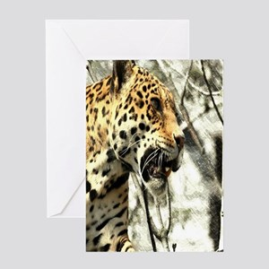 nature wild safari leopard Greeting Cards
