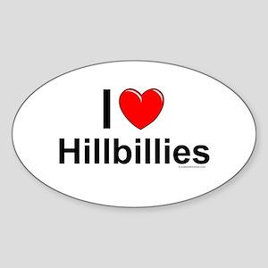 Hillbillies Sticker (Oval)