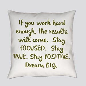 Eye On The Prize Dream BIG Design Everyday Pillow