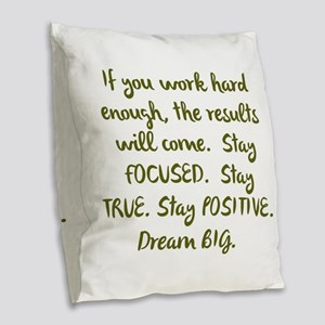 Eye On The Prize Dream BIG Design Burlap Throw Pil