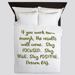 Eye On The Prize Dream BIG Design Queen Duvet