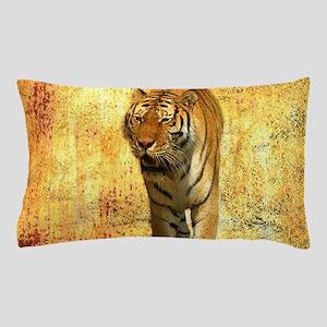 rustic grunge wild tiger Pillow Case