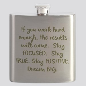 Eye On The Prize Dream BIG Design Flask