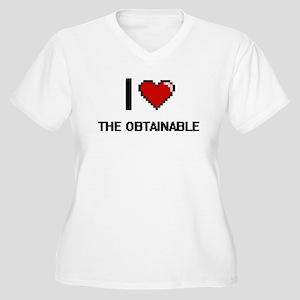 I love The Obtainable digital de Plus Size T-Shirt
