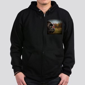 autumn landscape country turkey Zip Hoodie (dark)