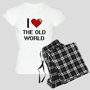 I love The Old World digita Women's Light Pajamas