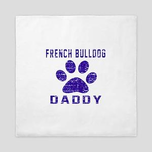French Bulldog Daddy Designs Queen Duvet