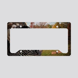 autumn landscape country turk License Plate Holder