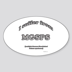 GSP Syndrome Oval Sticker