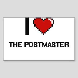 I love The Postmaster digital design Sticker
