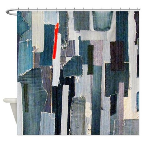 Awesome Mad About Denim Shower Curtain