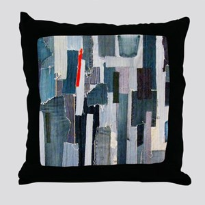 Mad about Denim Throw Pillow