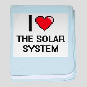 I love The Solar System digital desig baby blanket