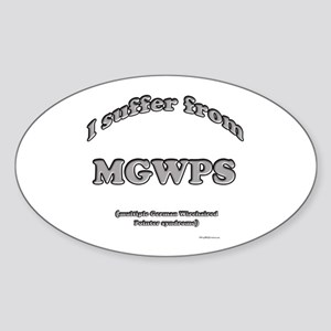 Wirehaired Syndrome Oval Sticker