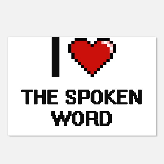 I love The Spoken Word di Postcards (Package of 8)