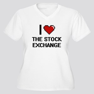 I love The Stock Exchange digita Plus Size T-Shirt