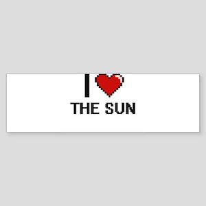 I love The Sun digital design Bumper Sticker