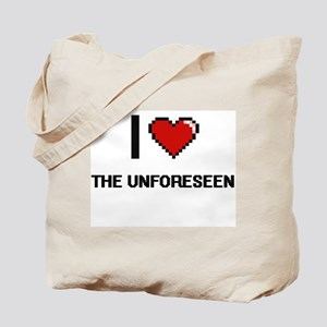 I love The Unforeseen digital design Tote Bag