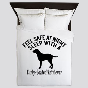 Sleep With Curly Coated retriever Dog Queen Duvet