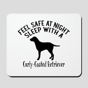 Sleep With Curly Coated retriever Dog De Mousepad