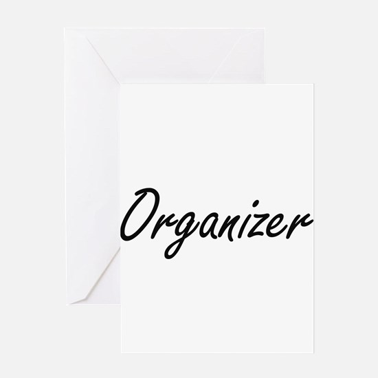 Organizer Artistic Job Design Greeting Cards