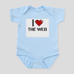 I love The Web digital design Body Suit