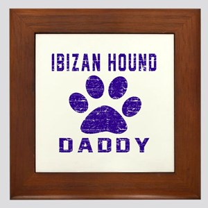 Ibizan Hound Daddy Designs Framed Tile