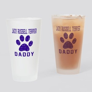 Jack Russell Terrier Daddy Designs Drinking Glass