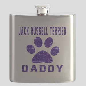 Jack Russell Terrier Daddy Designs Flask