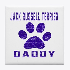 Jack Russell Terrier Daddy Designs Tile Coaster