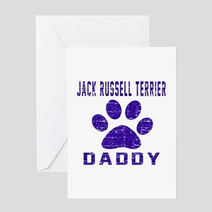 Jack Russell Terrier Daddy Designs Greeting Card