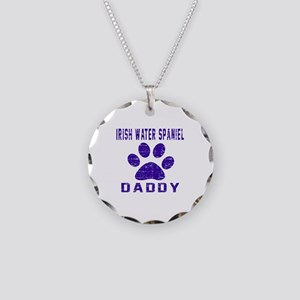 Irish Water Spaniel Daddy De Necklace Circle Charm