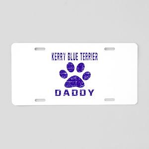 Kerry Blue Terrier Daddy De Aluminum License Plate