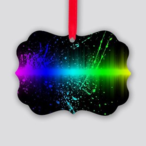 Rainbow Soundwave Picture Ornament