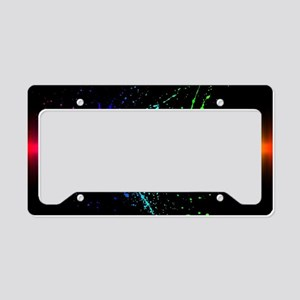 Rainbow Soundwave License Plate Holder